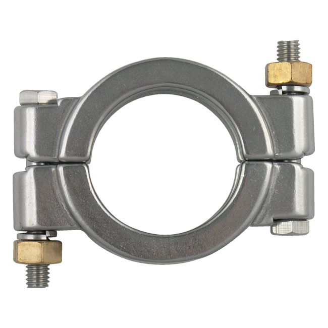 Sanitary tri clamps single pin cross hole wing nut