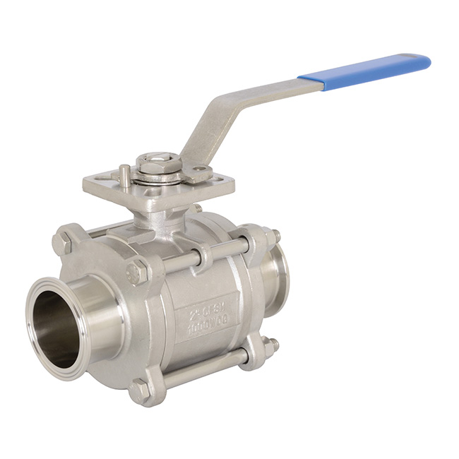 Encapsulated 2-Way 3 Piece Stainless Steel Ball Valve