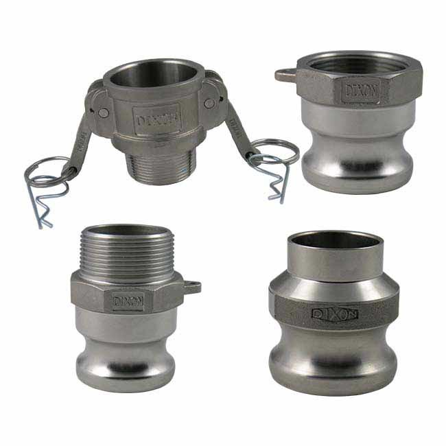 Dixon Sanitary Cam and Groove Fittings