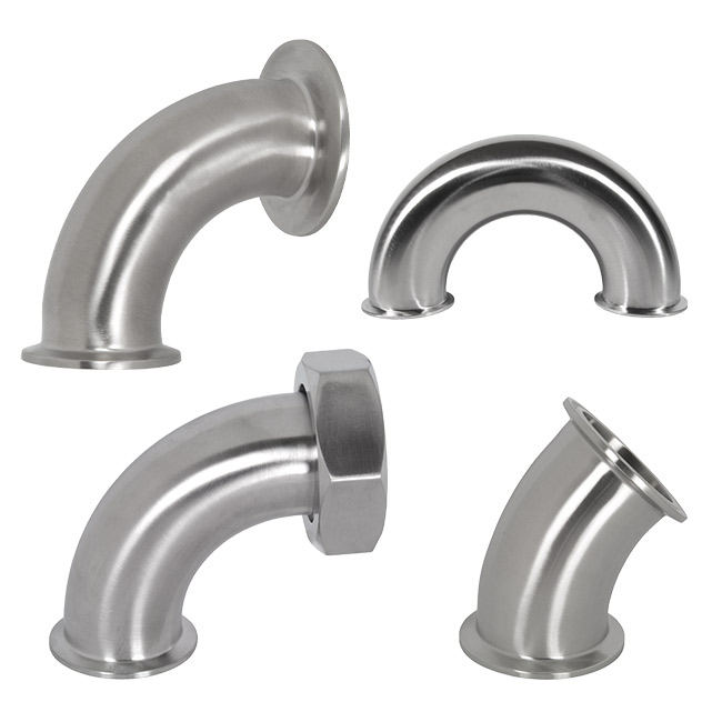 3A Sanitary Tri-Clamp Fittings, Stainless Steel