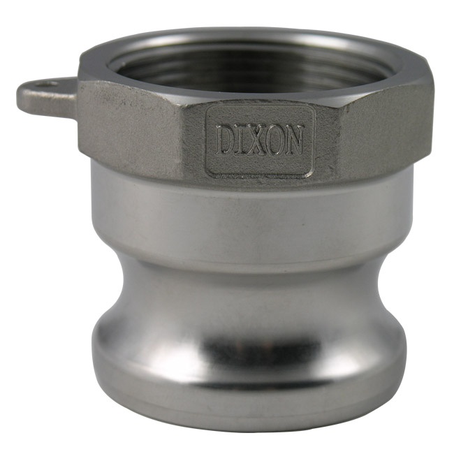 dixon sanitary cam and groove type a adapter x female npt