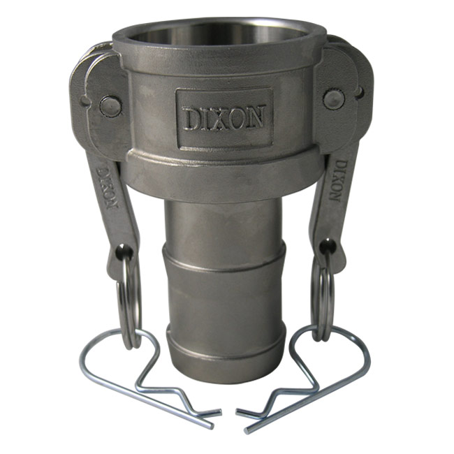 Dixon Sanitary Cam and Groove Fittings - Coupler x Hose Shank (Type C)