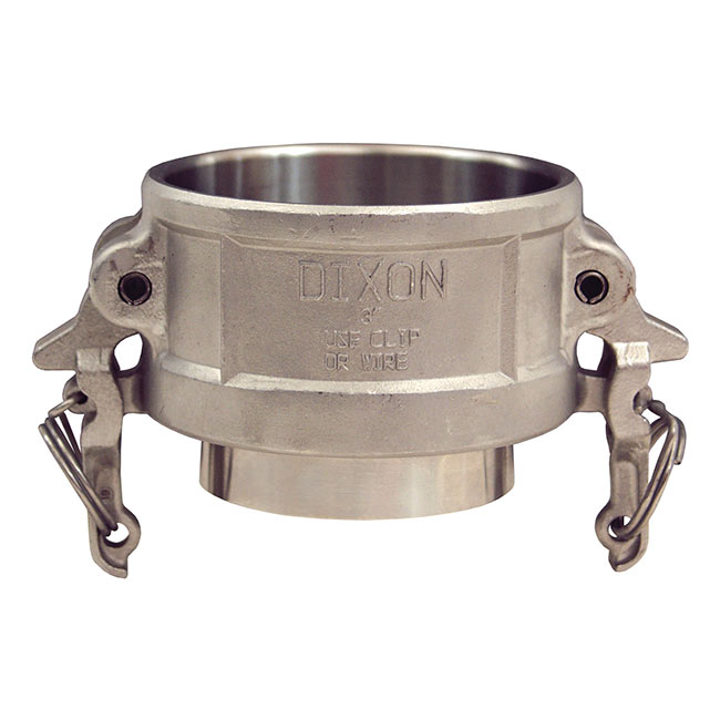 Dixon Sanitary Cam and Groove Fittings - Coupler x Weld