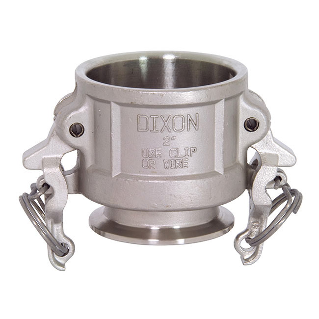 Dixon Sanitary Cam and Groove Fittings - Coupler x Clamp